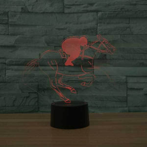 Horse Riding 3D Illusion Lamp - Lampeez