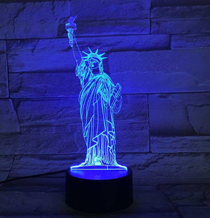 Statue Of Liberty 3D Illusion Lamp - Lampeez