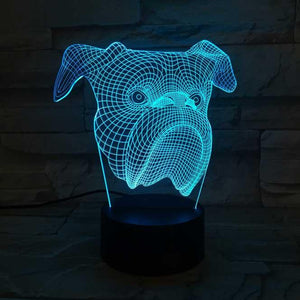 Bulldog 3D Illusion Lamp - Lampeez