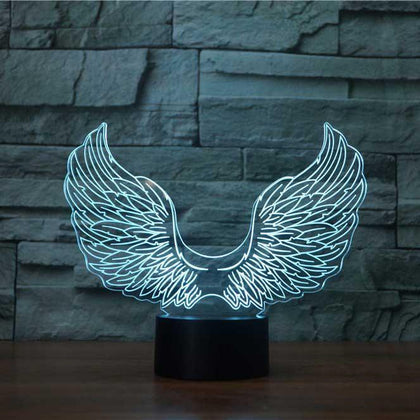Angel Wings 3D Illusion Lamp