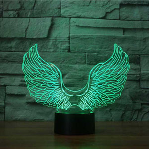 Angel Wings 3D Illusion Lamp - Lampeez
