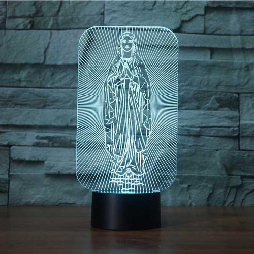 Virgin Mary 3D Illusion Lamp - Lampeez