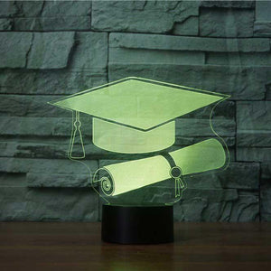 Graduation 3D Illusion Lamp - Lampeez