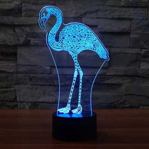 Flamingo 3D Illusion Lamp - Lampeez