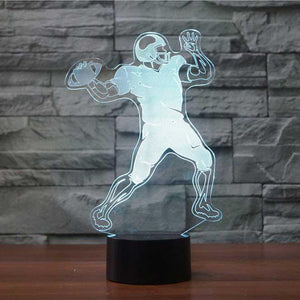Football Quarterback 3D Illusion Lamp - Lampeez
