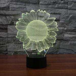 Sunflower 3D Illusion Lamp - Lampeez