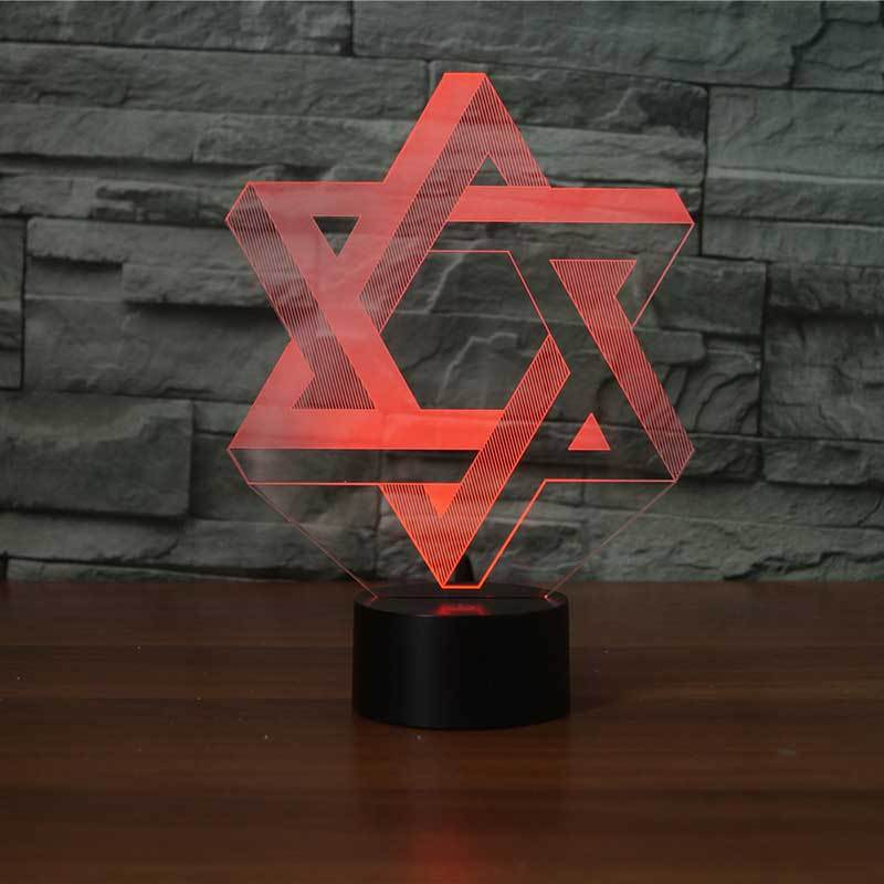 Star Of David 3D Illusion Lamp - Lampeez
