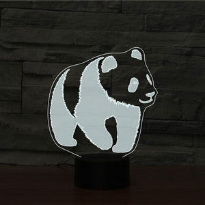 Panda 3D Illusion Lamp - Lampeez