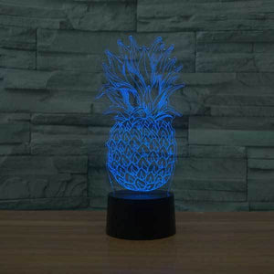 Pineapple 3D Illusion Lamp - Lampeez