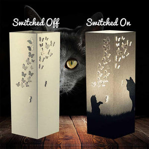 Playful Cats Shadow Illusion Lamp