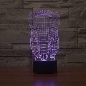 Tooth 3D Illusion Lamp - Lampeez