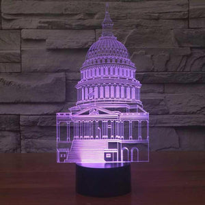 US Capitol Building 3D Illusion Lamp - Lampeez