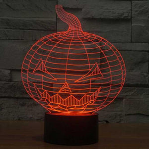Halloween Pumpkin 3D Illusion Lamp - Lampeez