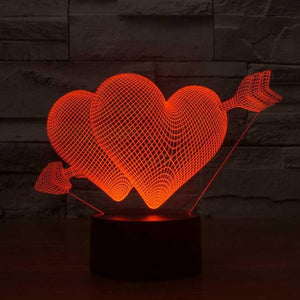 Heartstruck 3D Illusion Lamp - Lampeez