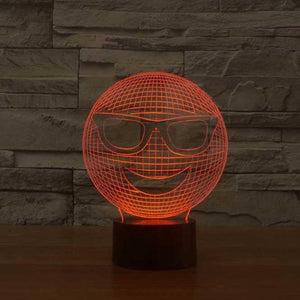Smiley 3D Illusion Lamp - Lampeez