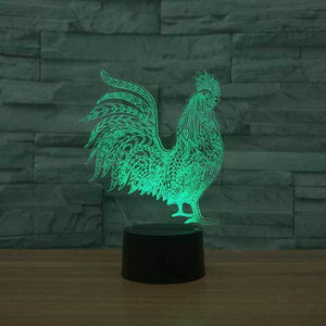 Rooster (Chicken) 3D Illusion Lamp - Lampeez