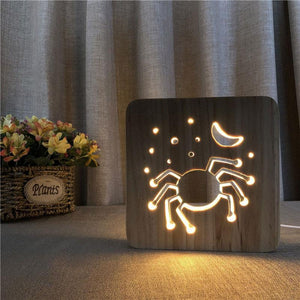 Spider Wooden Lamp - Lampeez