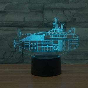 Submarine 3D Illusion Lamp - Lampeez