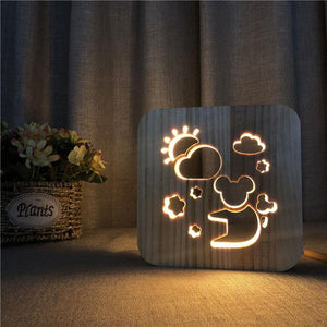 Teddy Bear Wooden Lamp - Lampeez