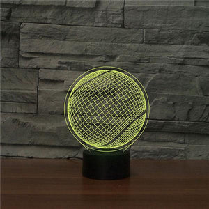 Tennis 3D Illusion Lamp - Lampeez
