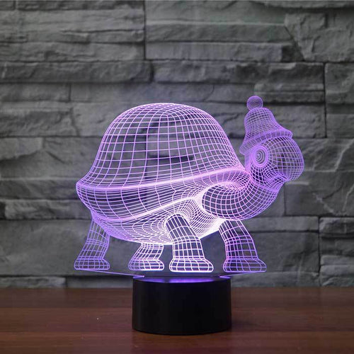 Tortoise 3D Illusion Lamp - Lampeez