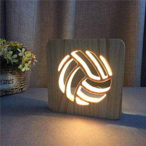 Volleyball Wooden Lamp - Lampeez