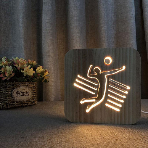 Volleyball Player Wooden Lamp - Lampeez