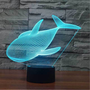 Whale 3D Illusion Lamp - Lampeez