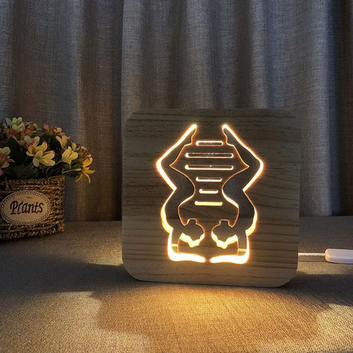Yoga Wooden Lamp - Lampeez