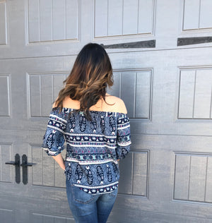 Front Tie Off The Shoulder Top