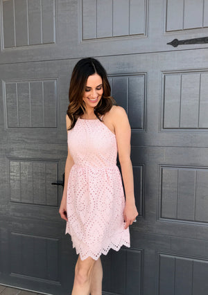 Light Pink Eyelet Dress