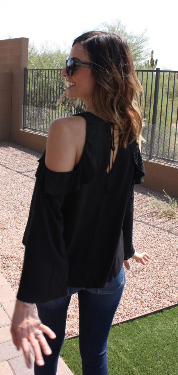 Open Cold Shoulder Blouse