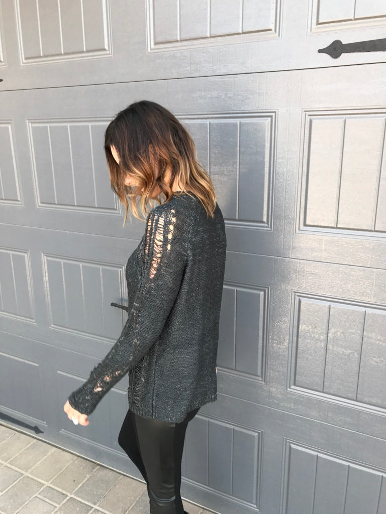 Distressed Sweater