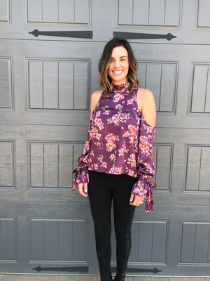Cold Shoulder Cutout Blouse