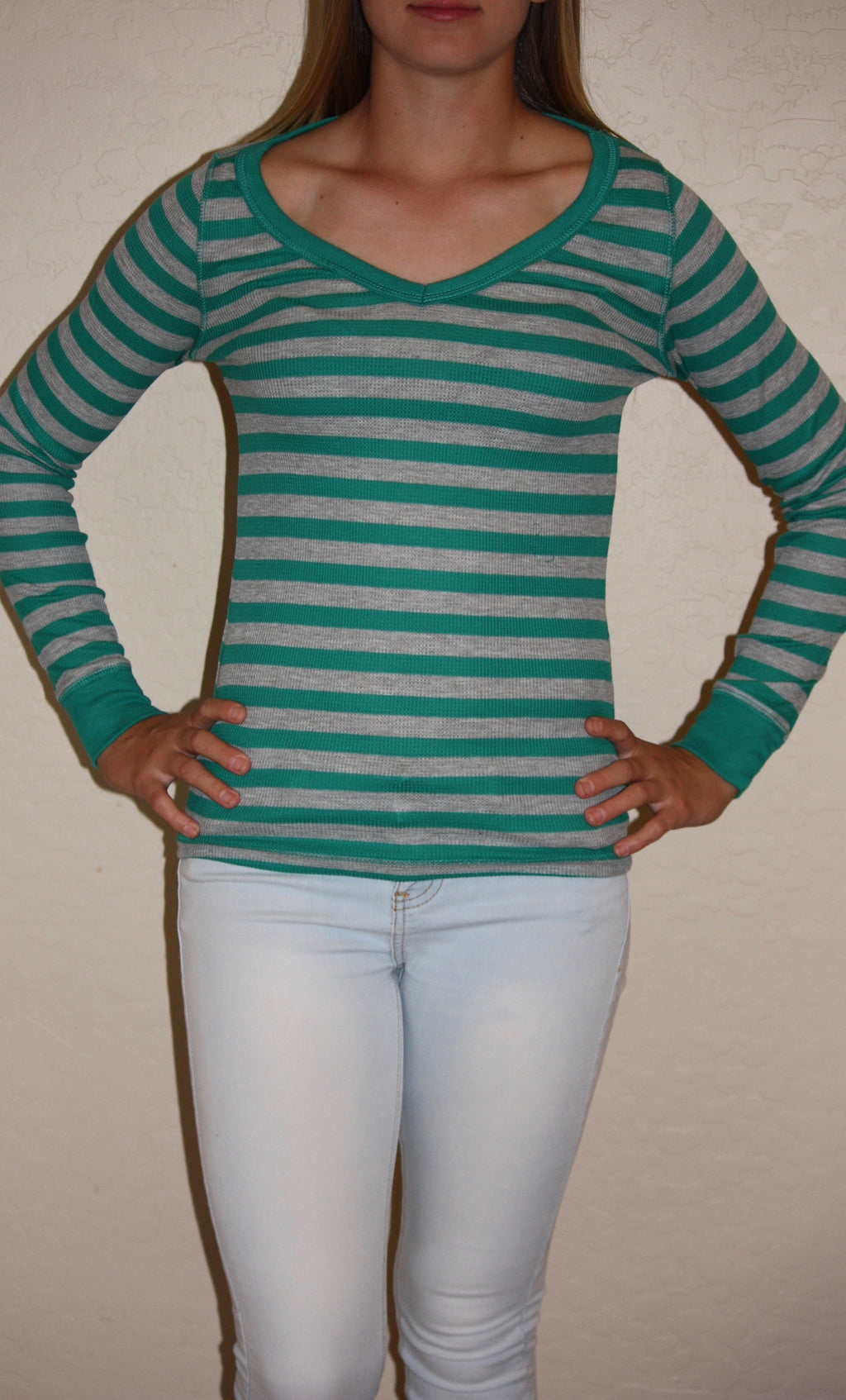 Long Sleeve Striped Thermal
