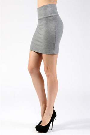 Basic Body Con Mini Skirt