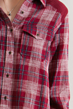 Plaid Linen Long Sleeve