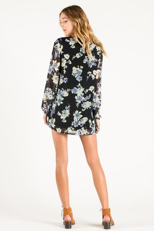 Floral Print Flowy Mini Dress