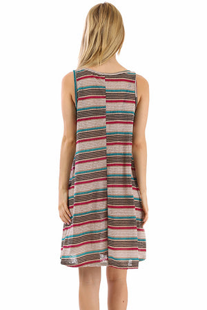 Striped Tank Jersey Dress