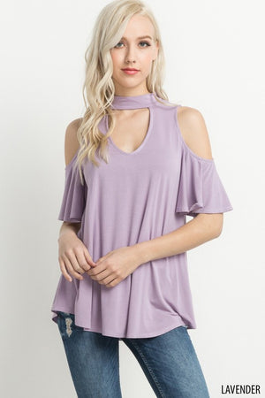 Cut-Out Front Open Shoulder Top