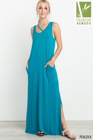 Sleeveless Side Slit Maxi Dress