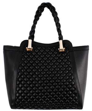 Trendy Quilted Mono Tone Fashion Handbag
