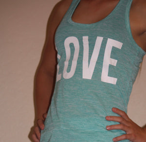 "Marbled ""Love"" Print Tank Top"