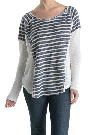 French Terry Stripe Top