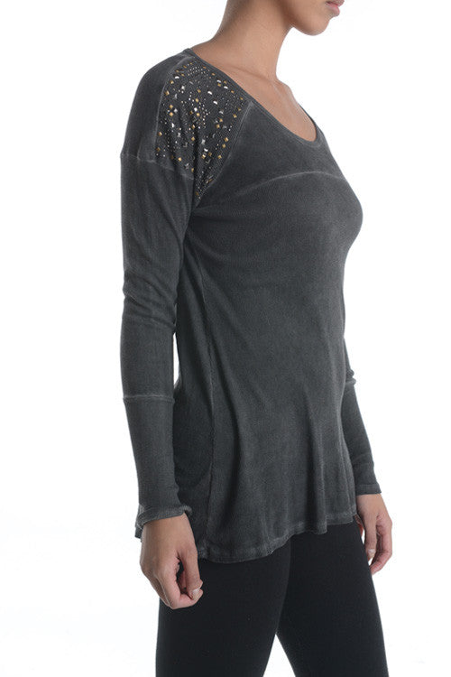 Embellished Shoulder Top