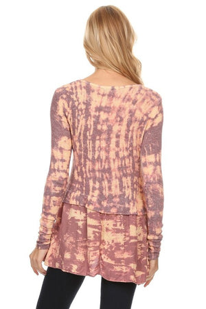 Long Sleeve Layered Tie Dye