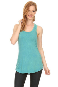 Sleeveless Tank Top with Razor Cut Back