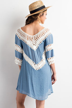 Natural Crochet Cover Up