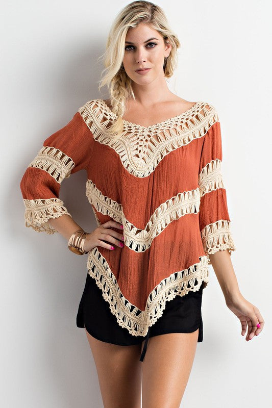 Crochet Detailed Top