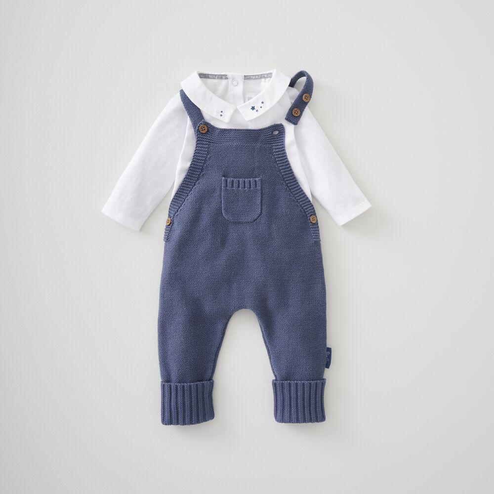 Knitted Dungaree & Bodysuit Set 3-6 Months